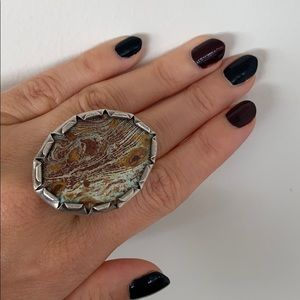 Tribal Silver Turquoise Ring